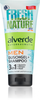 Sprchový gel a šampon 3v1 Fresh Nature Men Alverde